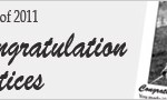 2011 Congratulation Notices