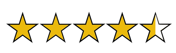 Image result for 4 and half stars