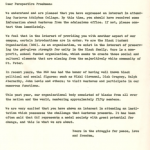 The members of the BSO were avid recruiters and often called, sent letters, and hosted perspective African American students. This letter was sent to potential students and members by the BSO. Gustavus Adolphus College Archives