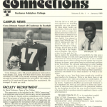 The Black Student Organization's monthly newspaper. Gustavus Adolphus College Archives