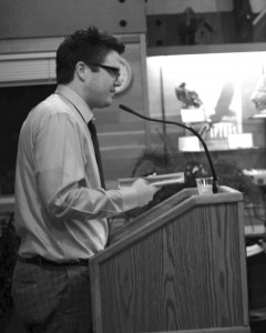Matt Rasmussen '98 gave a poetry reading Wednesday, Sept. 18 during the English Department's poetry series entitled, Bards in the Arb. Ally Hosman