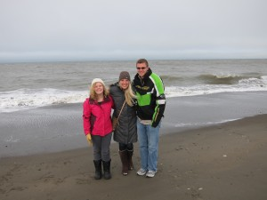 The nursing students had the opportunity to visit the Arctic Ocean coastline in Barrow, Alaska. Pictured are students Milne, Torborg, and Krebs. Submitted