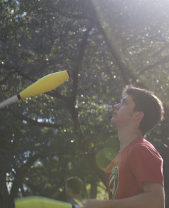 Juggler Jack Levy honing his skills during the Fall semester Involvement Fair. Allison Hosman
