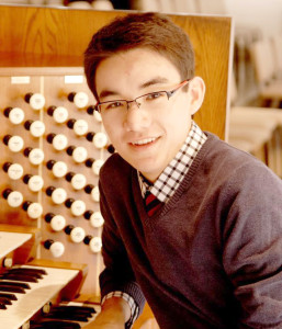 Organist David Lim was honored as the winner of the Immanuel Lutheran Church Organ Competition in February. Submitted