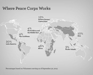 Peace Corps location distribution. Submitted