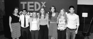 Student TEDx volunteers (left to right):  Nicole Smetana, Bruno Rocha, Angela Gewerth, Breanna Schlegal, Sarah Barnes, Katey Nelson, Kyle Bright. Submitted