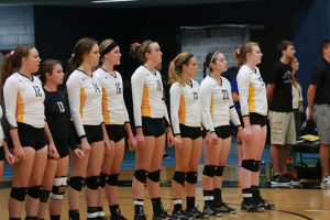 The volleyball team goes on an international trip every three or four years. On these trips they engage in both team bonding and community service activiites. Gustavus Sports Information