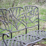 A bench found in the Arboretum.