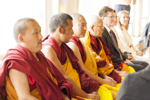 A group of Tibetan monks from the Gyuto Wheel of Dharma (Life) Monastery in Minneapolis, Minn. provided various demonstrations of Tibetan religious traditions throughout the conference. Agustin Murillo