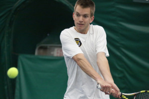 Senior Joey MacGibbon hopes that the men's tennis team makes it to the Final Eight in the NCAA National Tournament this year, after coming close the past four years. Gustavus Sports Information