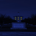 Blue old main