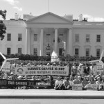 Gustavus students protesting Keystone XL Pipeline at Washington D.C. last September.