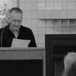 Hennen read selections from his latest book, Darkness Sticks to Everything.