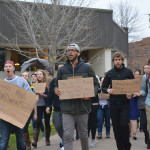 Gustavus students protesting on November 12th  in solidarity with students of Mizzou who have been protesting racial issues on their campus.