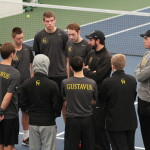 Head Coach Tommy Valentini provides some coaching points before the matches begin.
