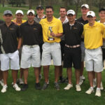The Gustavus Men's Golf team took home some hardware at the Bobby Krig Invitaional, winning the tournament after being five strokes down on the first day.