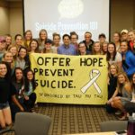 Tau Mu Tau Sorority puts on Suicide Awareness Week to prevent suicide and offer hope.