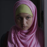 Mariam portrays a Muslim girl who is forced to choose between removing her hijab or being expelled from school.