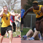 Michael Hensch (left) and Josh Curtis (right) have proved themself on the football gridiron, and now they're tearing up Track and Field, and they're only freshmen. It makes you wonder: could they be superheroes?