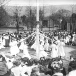 A May Day maypole celebration in 1910.