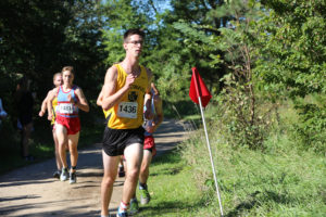 Junior Elijah Fourre competes in the Gustie Invitational. The team placed second of four teams at the Crown Invite.