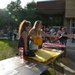 Gustavus Cheerleading was among the many groups participating in the involvement fair.