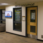 The Career Development Office is located on the lower level of the Jackson Campus Center.