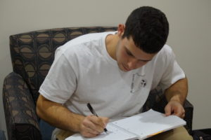 Guenther works hard as a Physical Education and Health major.