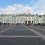 A photo of Hermitage, the past Winter palace for the Russian royal family.