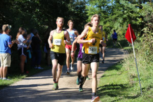 Senior Tyler Stordahl runs in the Gusties Invitational. The men's team also posted a sixth place finish this past weekend.