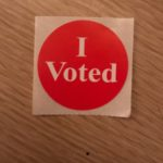 Voting stickers are a symbol of doing one's civic duty on Election Day.