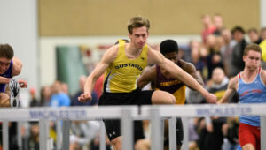 Sophomore Taylor Rooney holds the eighth best Division III time in the 60 meter hurdles.