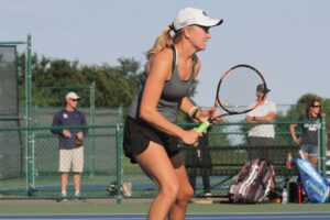 Senior Lilly Hartman has been a strong conrtibutor to the team over her last four years as a Gustie.