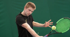 First-year Nick Aney went 6-0 last weekend in combined singles and doubles matches.