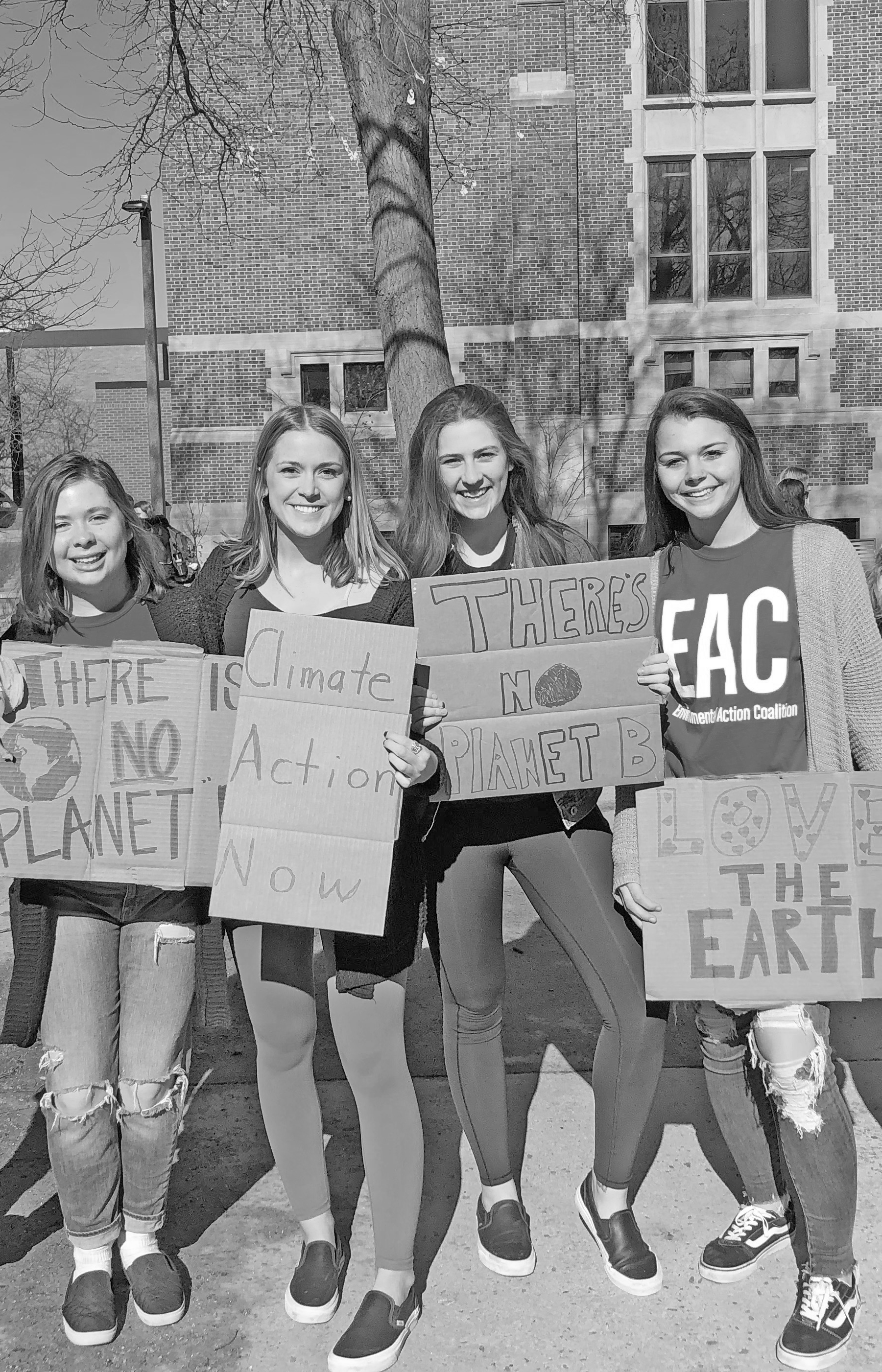Gusties protesting for climate action at Groundswell.