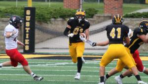 Senior Josh Kirk tallied three touchdown's against Martin Luther.