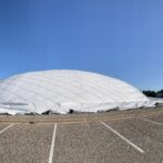 Swanson Tennis Center during deflation.