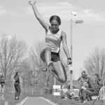 Banks is a member of the track and field team where she partici- pates in long-jump and sprinting events.