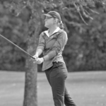 Sophomore Erin Ericson tees off at the MIAC Championships this past weekend. Ericson posted the best individual score (75) on the team and finished sixth overall.