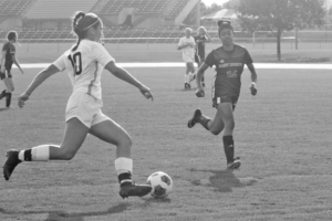 Junior Katie Ashpole takes on a St. Mary's defender Sept. 21.