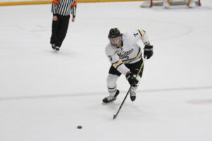 Senior Jared Bromberg competes for the Gusties during a game last season.