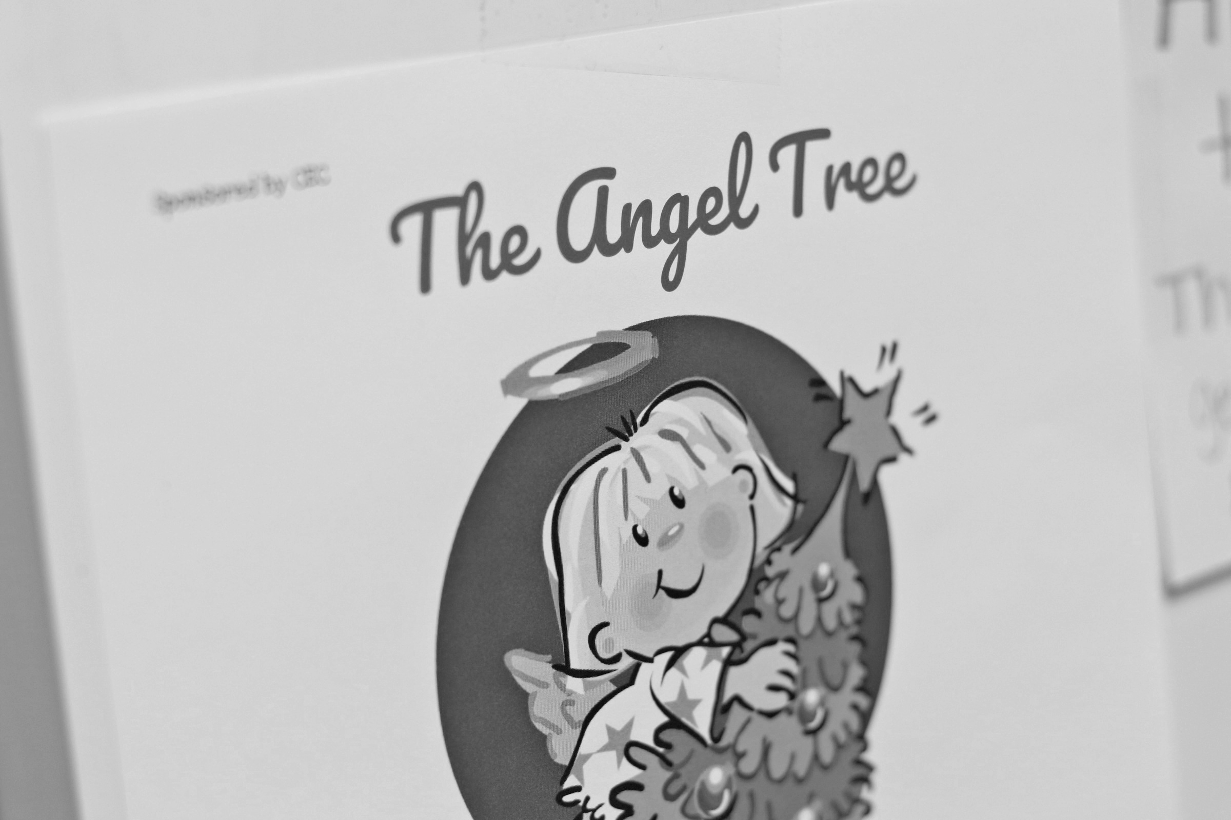 The Holiday Angel Tree can be found outside the Community Engagement Center office.