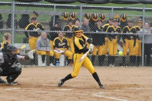 All-Conference Honorable Mention Ashley Neuenfeldt returns for the Gusties.