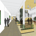 A rendered display of the anticipated new interior for the Anderson Building.
