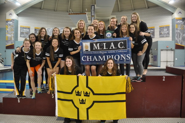 With a blend of individual and team performances, the Gustavus Women's Swim & Dive team earned their sixth consecutive MIAC Championship title.