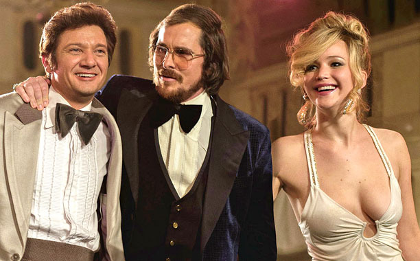 Jeremy Renner, Christian Bale, and Jennifer Lawrence all appear in the Oscar-nominated film, American Hustle. Creative Commons