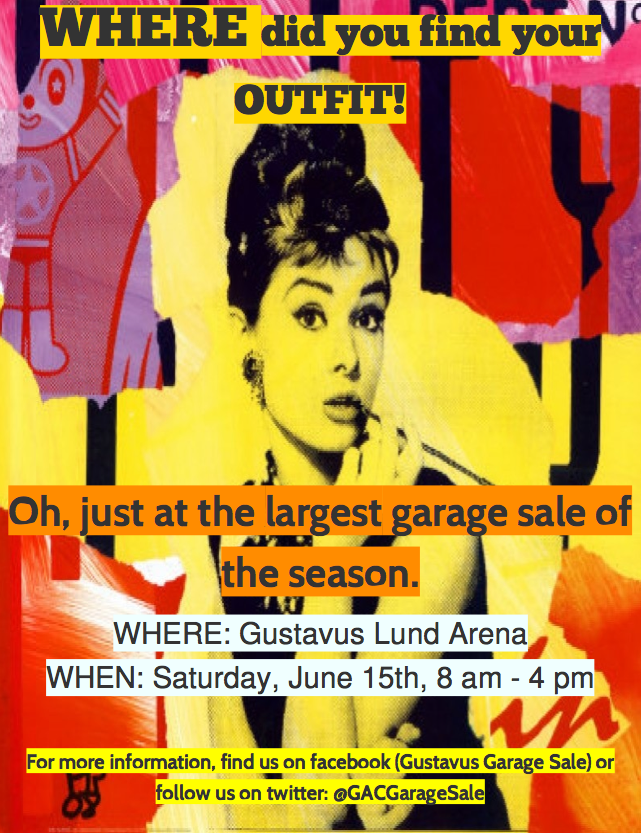 Katie Barta '13 hopes the garage sale will eventally mirror of the success of the Lighten Up Garage Sale at Carleton College. <em>Submitted</em>