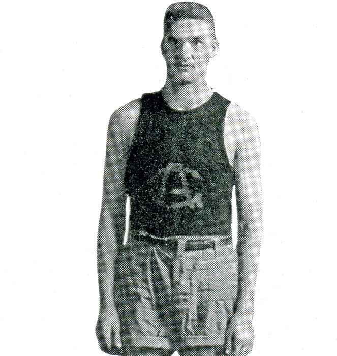 C. Fred Hanson basketball portrait, 1919. Gustavus Adolphus College Archives.