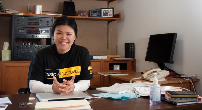 Lin encourages everyone to participate in music programs at Gustavus.