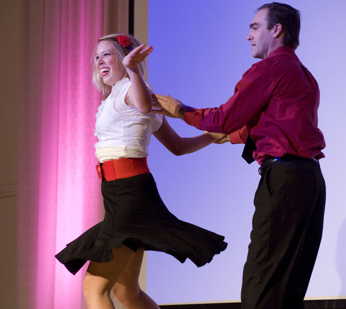 Two of 2009's contestants. Dancing with the Profs will take place Saturday, Nov. 6 at 7:30 p.m. in Alumni Hall. Marketing and Communication.
